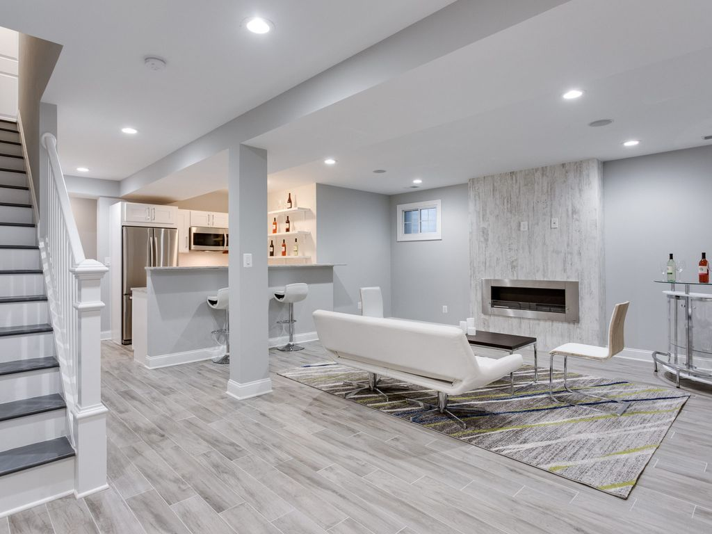 Modern Finished Basement Remodel To Living Room Zillow Digs 6 Modern Basements Zillow