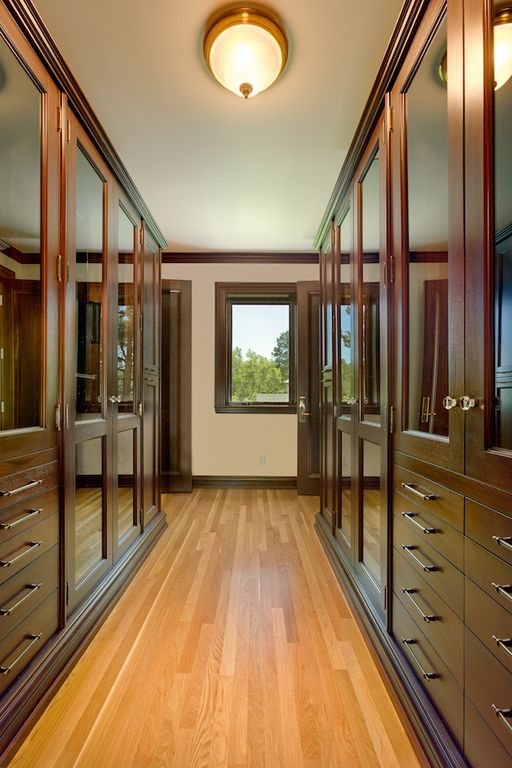 Contemporary Closet with flush light & specialty door | Zillow ...