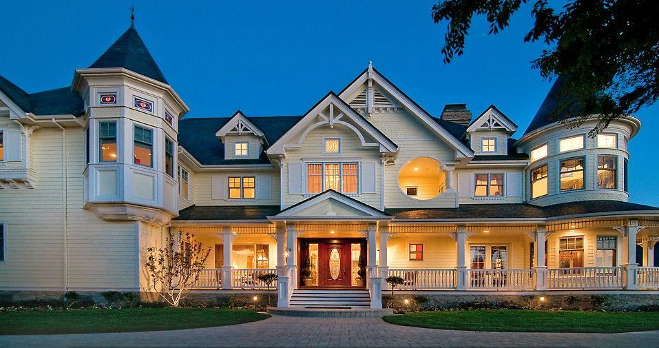 Traditional Exterior Of Home With Wood Shutters Amp Bay
