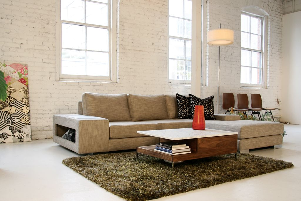 Modern Living Room with interior brick by Viesso Furniture | Zillow ...