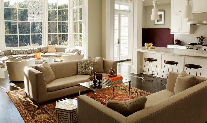 A Modern Living Room Part - 44: Modern Living Room With Bonnie Studio Sofa, Inmod Sandor Coffee Table,  Safavieh Zeigler Mahal