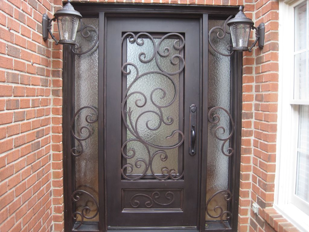 Contemporary Front Door with Glass panel door Iron Doors Unlimited Orleans & Contemporary Front Door with Glass panel door in Thompsons Stn TN ... pezcame.com