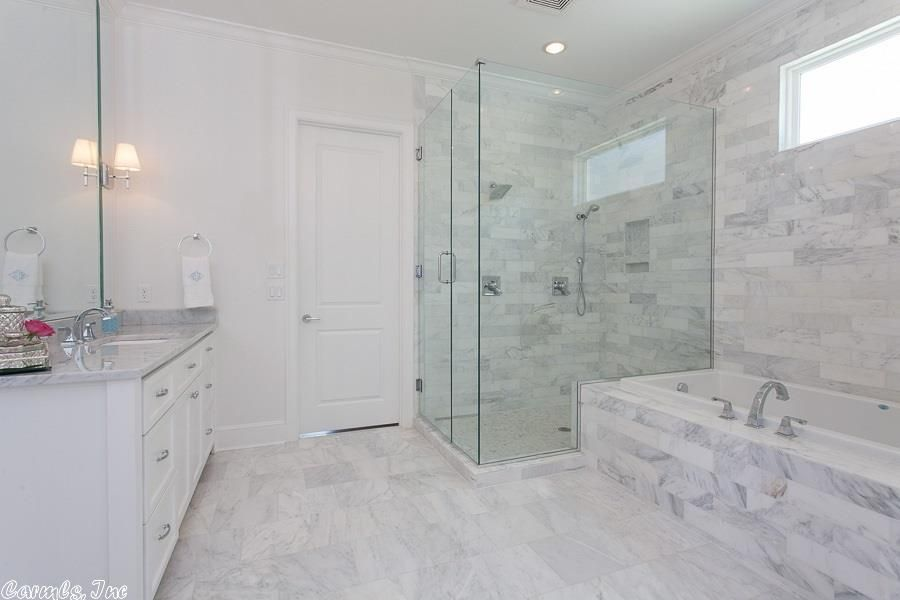 Honed marble bathroom 28 images honed carrara marble for Bath remodel little rock ar