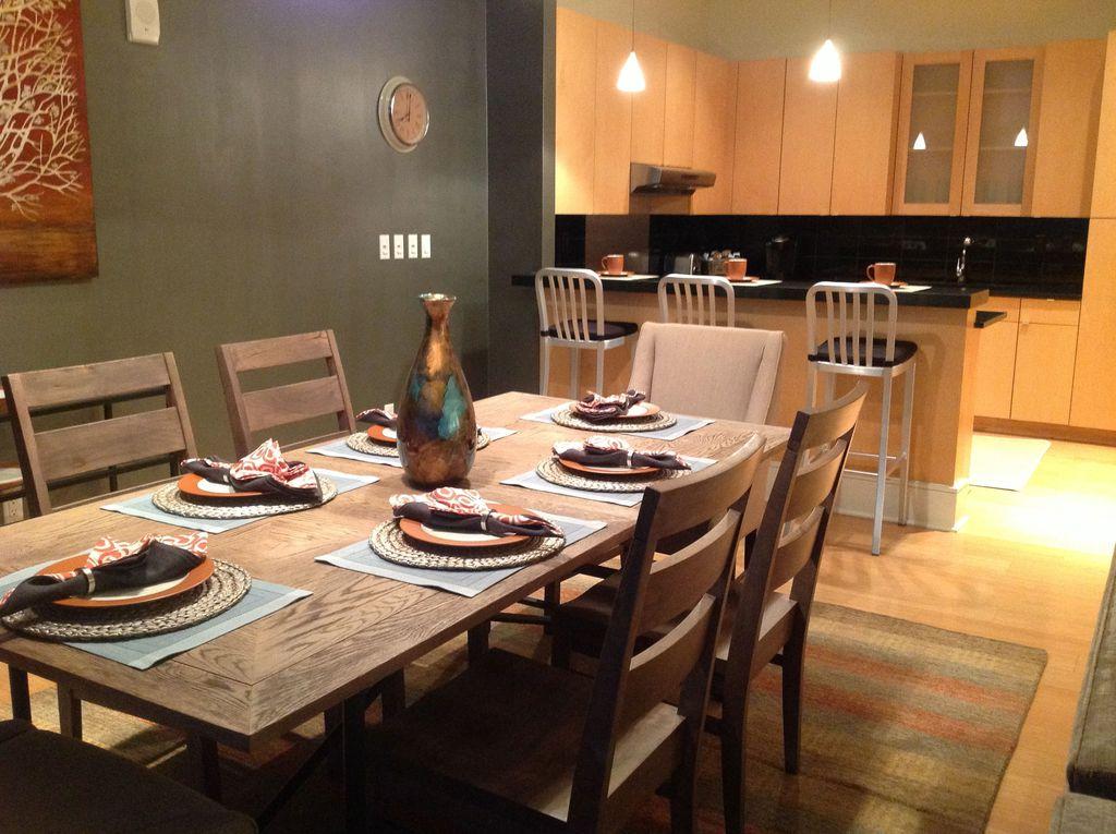 contemporary dining room with pendant lightteresa morgan