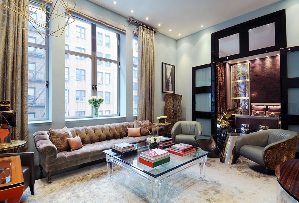 Art Deco Living Room with Hardwood floors by The Corcoran Group ...