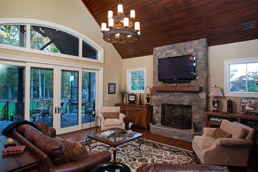 Traditional Living Room Fireplace traditional living room with stone fireplacedillard-jones