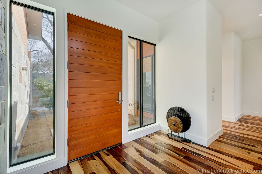 Modern Front Door With Unique Wood Floors Brazilian Pecan, Hardwood Floors,  Specialty Door
