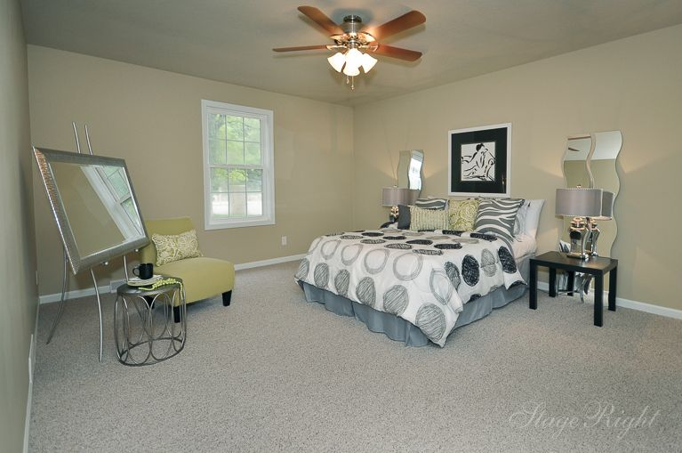 Contemporary Guest Bedroom with Carpet by Carole Morgan | Zillow ...