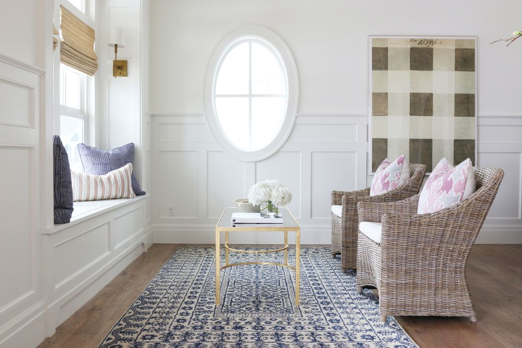 Traditional Living Room with Hardwood floors  Wainscoting  Carpet  High  ceiling  Wall sconceTraditional Living Room with Wall sconce by Studio McGee   Zillow  . Living Room Wall Sconce. Home Design Ideas