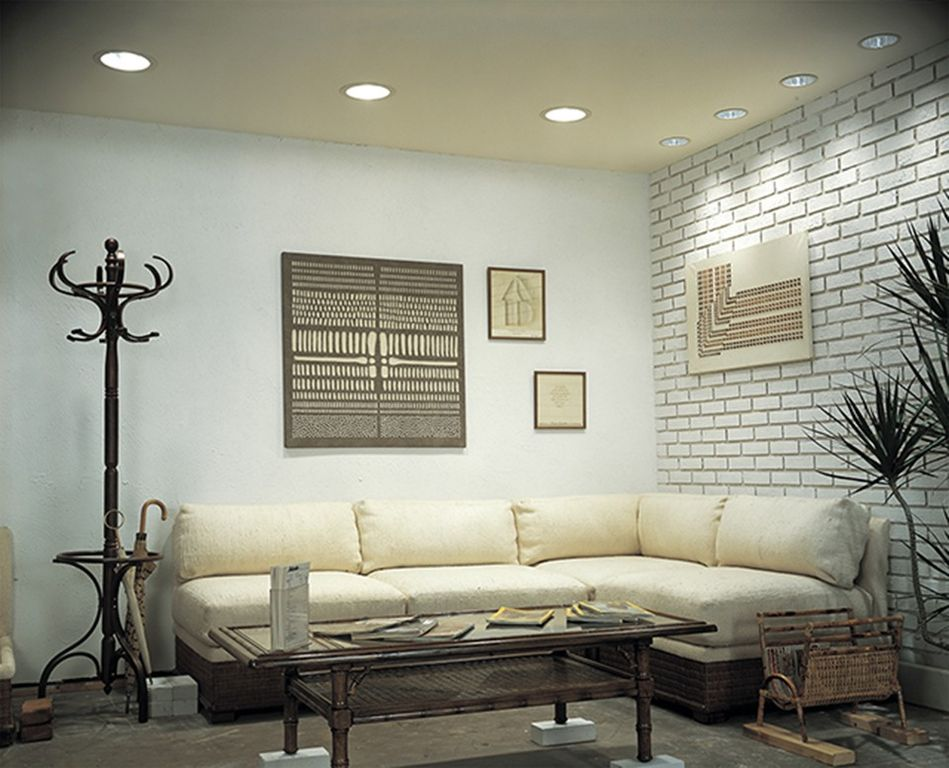 Contemporary Living Room With Progress Lighting P8075 Recessed Lighting  Series 6 Part 62