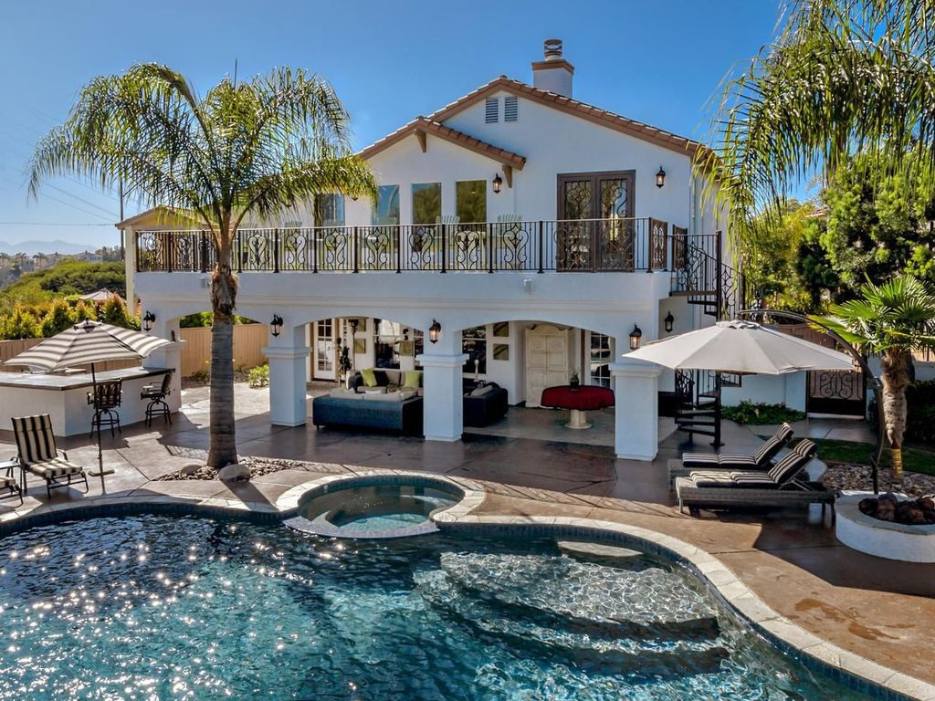 Outdoor Kitchens San Diego Mediterranean Exterior Of Home With Pathway Exterior Tile Floors