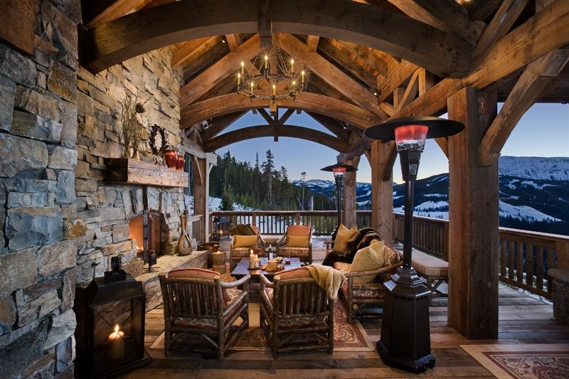 Rustic Porch with Wrap around porch outdoor pizza oven Zillow