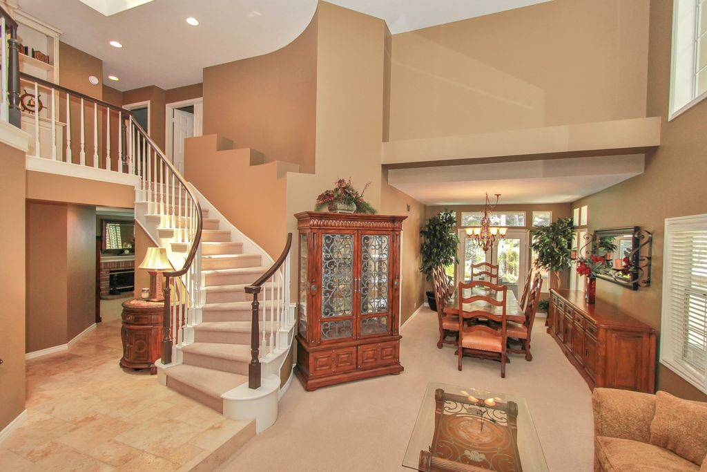 Traditional Staircase with Balcony by Matt Babayan Zillow Digs