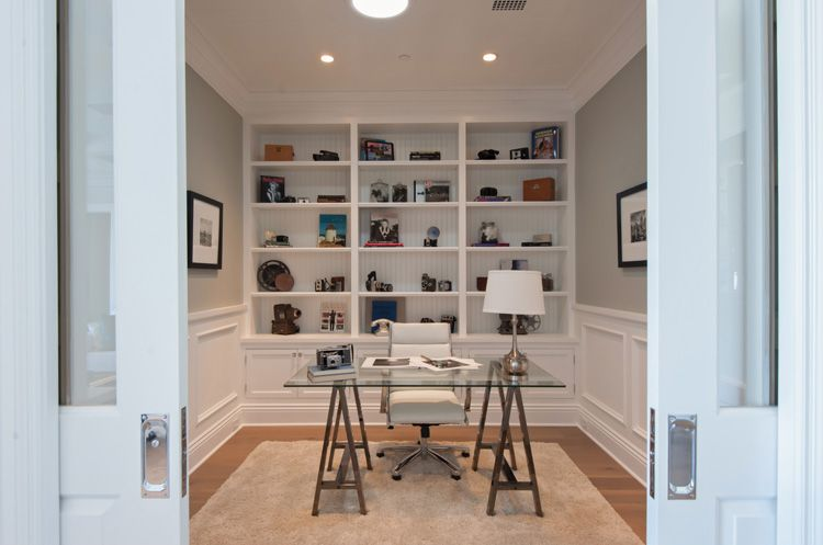 4 tags contemporary home office with flush light 14 sq ft cape cod mdf beadboard user0851760 home design ideas - Wainscoting Design Ideas