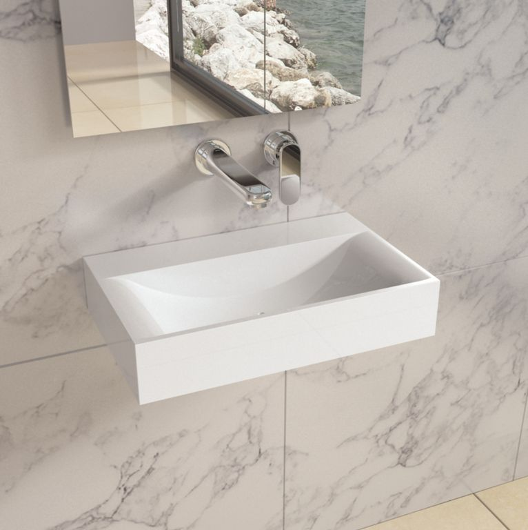 master bathroom with carrara white marble countertop wall mounted sink chelsey wall