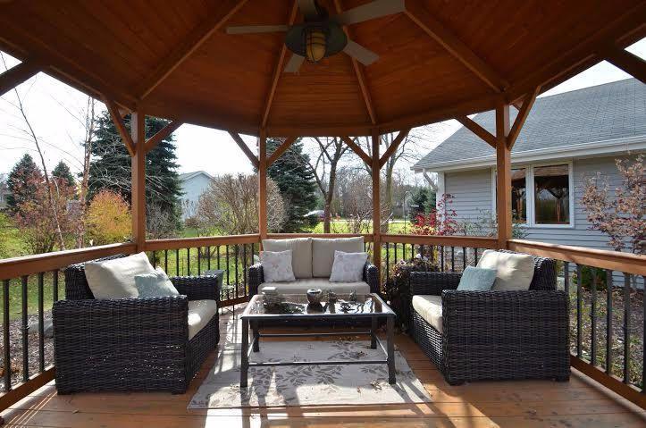 Craftsman Porch With Gazebo Wrap Around Exterior Stone Floors Pathway