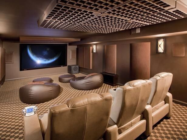 home theater interior design 2. Modern Home Theater with Carpet  Troy Lighting Deep Bronze Sausalito 2 Light Flush Mount Wall sconce Zillow Digs