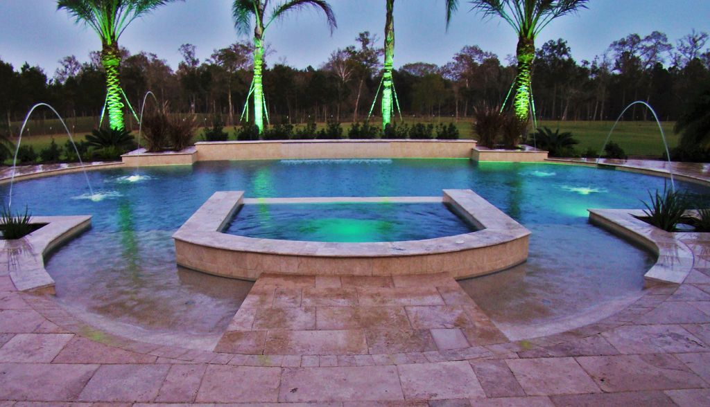 Pool Beds mediterranean swimming pool with pool with hot tubsignature