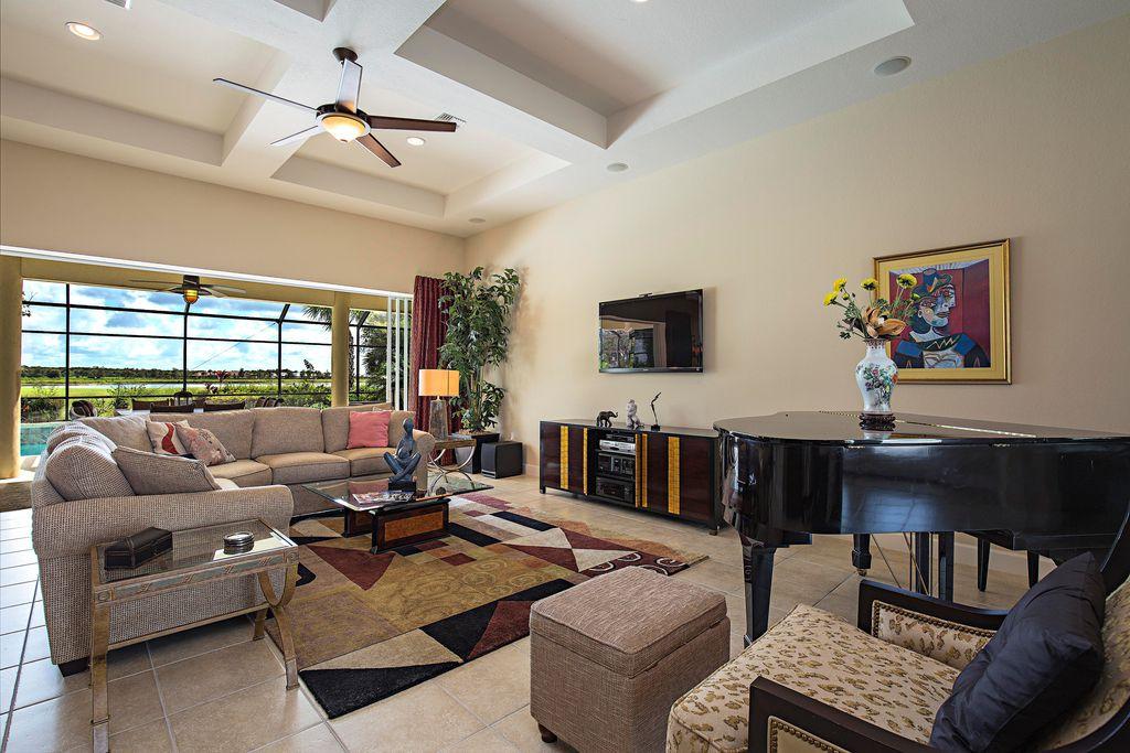 Modern living room with travertine tile floors by phillip for Grand living room