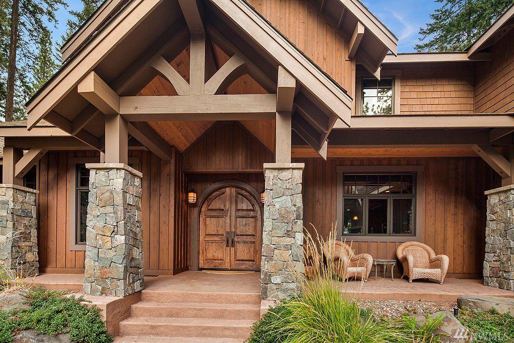 Rustic Exterior Of Home With Wrap Around Porch Exterior