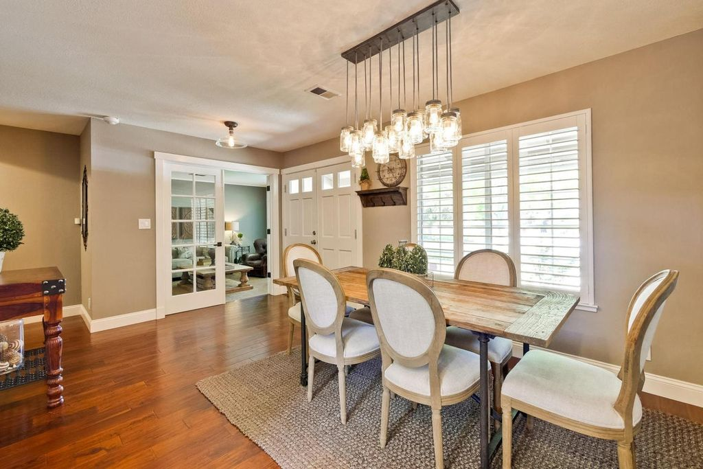 Traditional Dining Room With Hardwood Floors Interior Plantation Shutters HomeBASICS Exeter 16