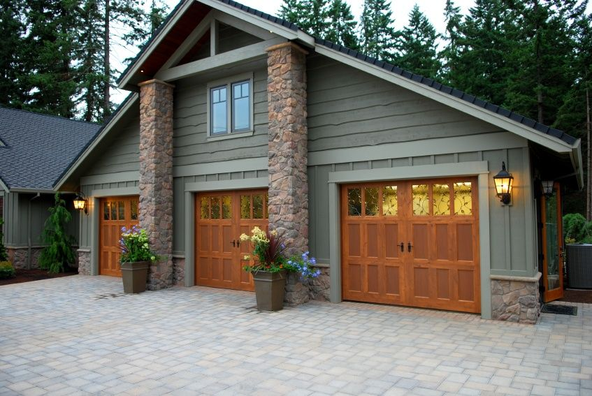 Country Wood Carports : Country garage with glass panel door by construction owl