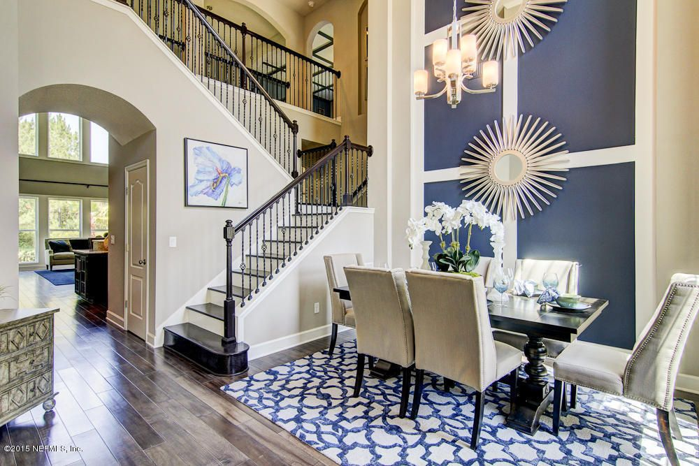 Transitional Dining Room With Rugs A Bound Surya Dream Navy Grey Area Rug Hardwood