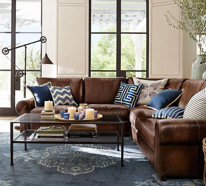 Traditional living room with carpet by pottery barn for Pottery barn style living room ideas