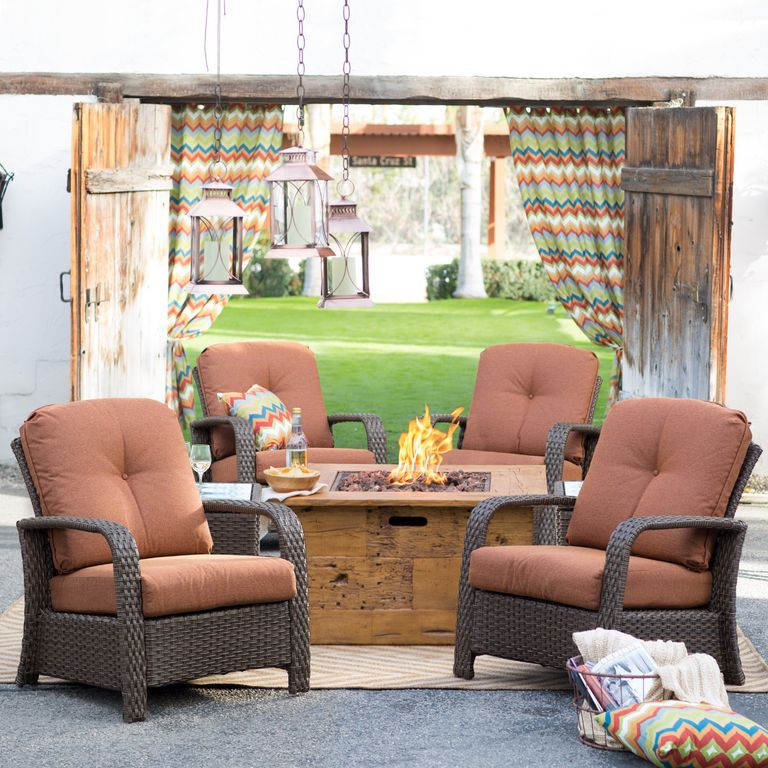 Rustic Patio with Fire pit by hayneedle Zillow Digs Zillow
