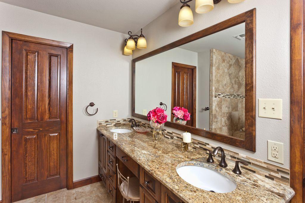Country Master Bathroom country master bathroom with limestone tile floorsclear choice