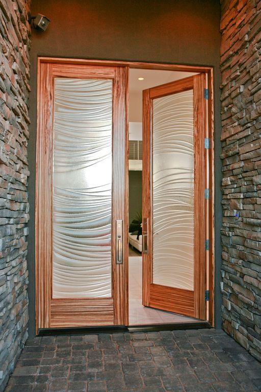 Modern Front Door With French Doors Exterior Stone Floors Zillow Digs Zillow