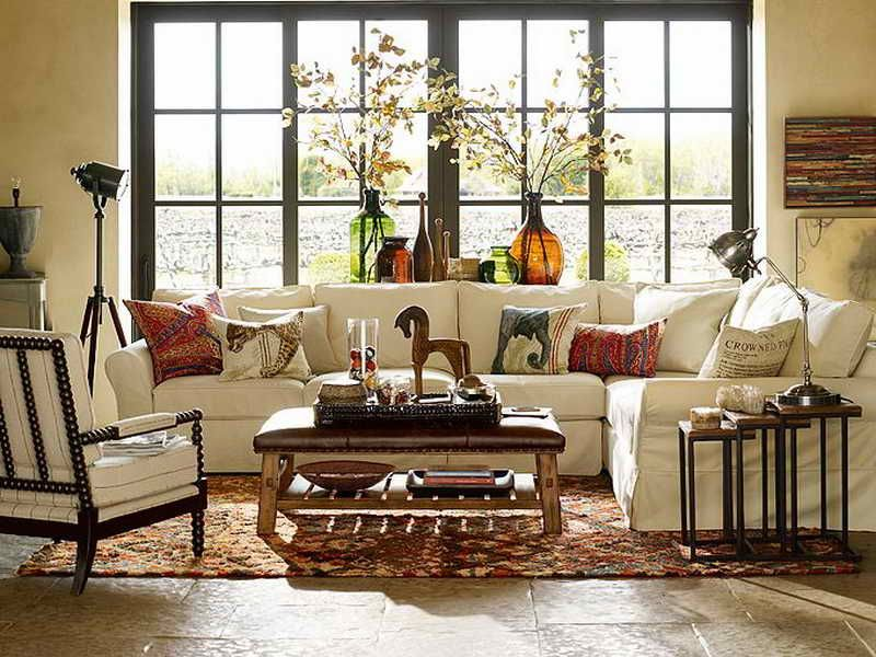 Eclectic Living Room With Horchow Finder Nesting Tables Set Of 3 Grid Pattern