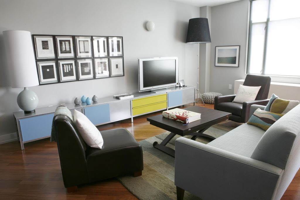 Contemporary Living Room With West Elm Modern Club Loveseat Ikea Alang Floor Lamp Gray