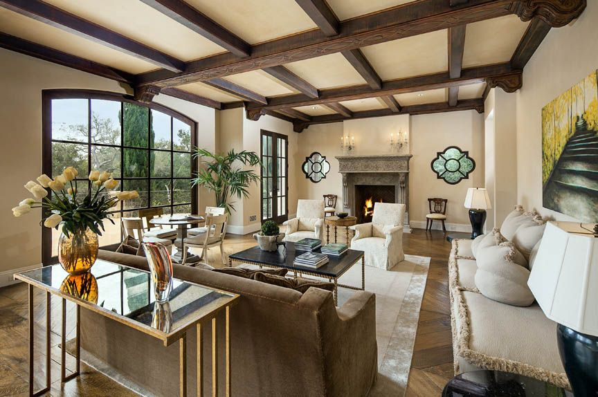 Traditional Living Room with Box ceiling & High ceiling in SANTA BARBARA, CA  Zillow Digs  Zillow