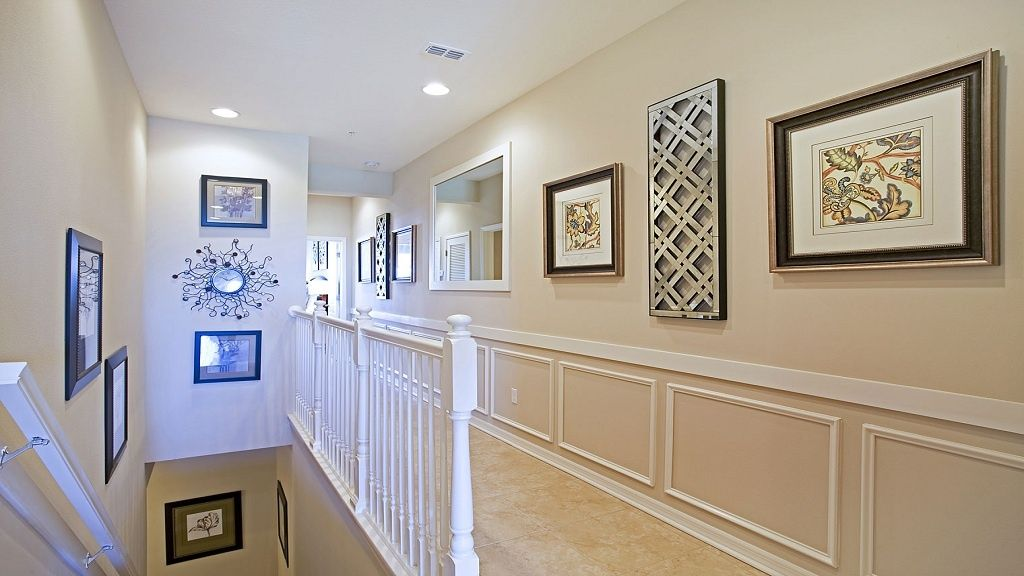 Traditional Hallway With Shadow Box Trim amp Wainscoting