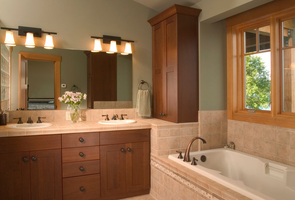Buy Feiss Clayton 4 Light Bath Vanity Fixture In Oil: Craftsman Master Bathroom By Bret Drager