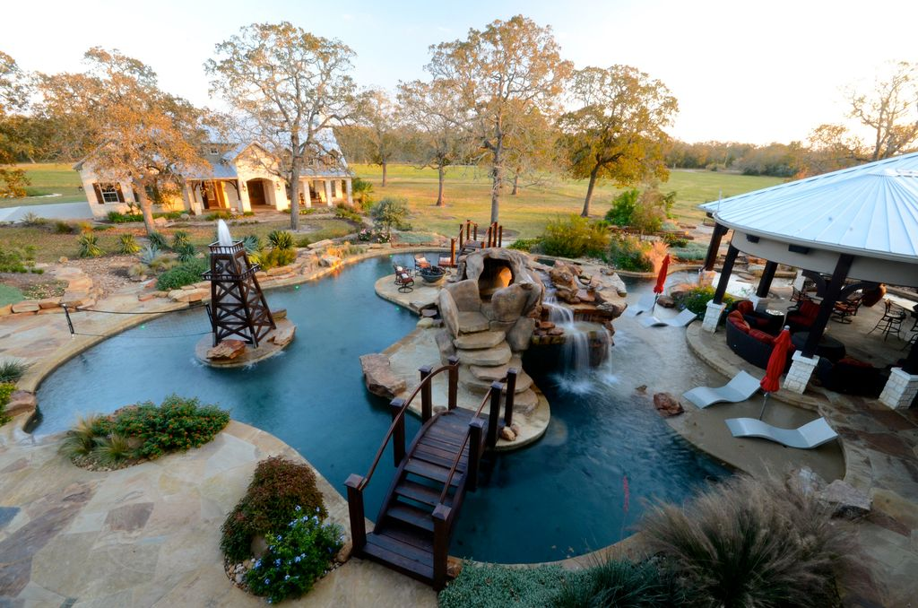 eclectic swimming pool with gazebo fountain zillow