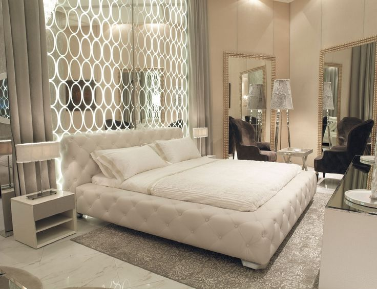 Art deco master bedroom with high ceiling simple marble for Art deco bedroom designs