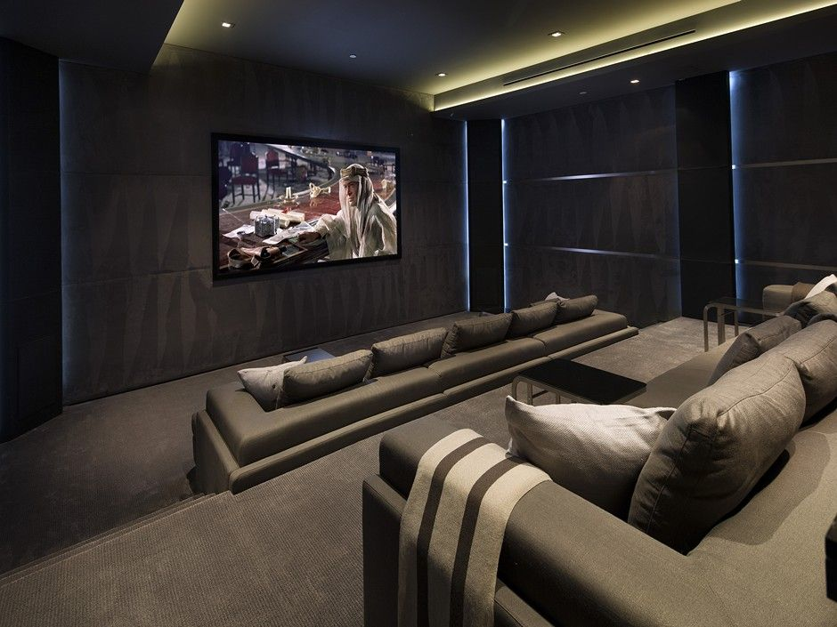 traditional home theater with carpet by jackie turner
