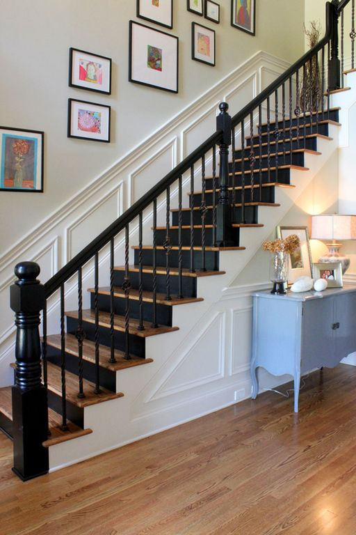 Painted Stair Risers Design Ideas & Pictures | Zillow Digs | Zillow