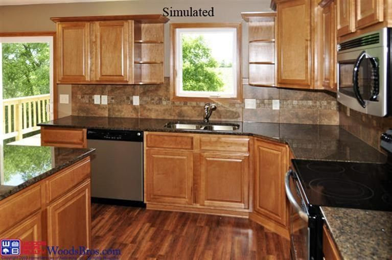 Traditional Kitchen With Balcony Hardwood Floors In