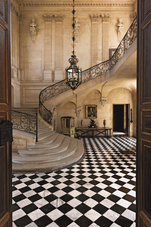 Traditional Foyer Tiles : Traditional entryway with high ceiling simple marble