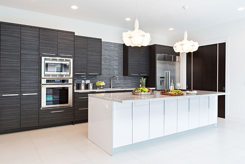 Contemporary kitchen with undermount sink by nina magon for High gloss kitchen wall units