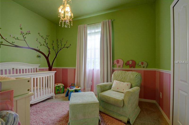 Chair Rail Nursery Part - 30: Traditional Nursery With Chair Rail, Girl Nursery, Carpet, Pendant Light