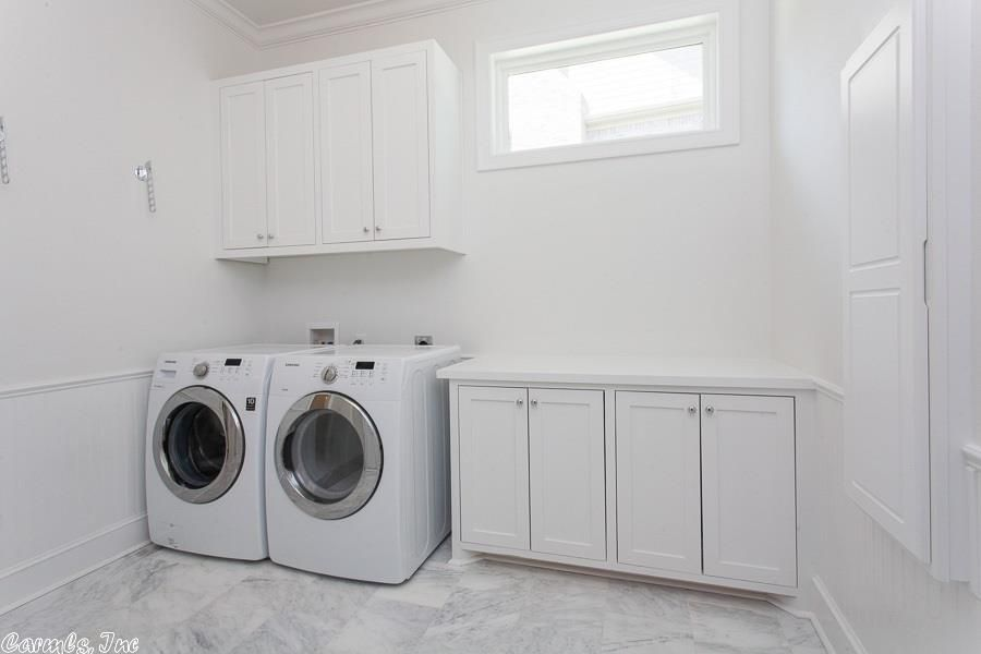 Contemporary Laundry Room with Hanover Flat Panel Cabinet Door, 3/16 in. x