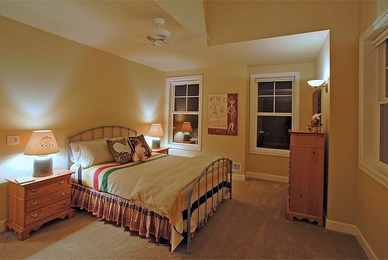 Country Master Bedroom with Wall sconce & Carpet in Birmingham, AL ...