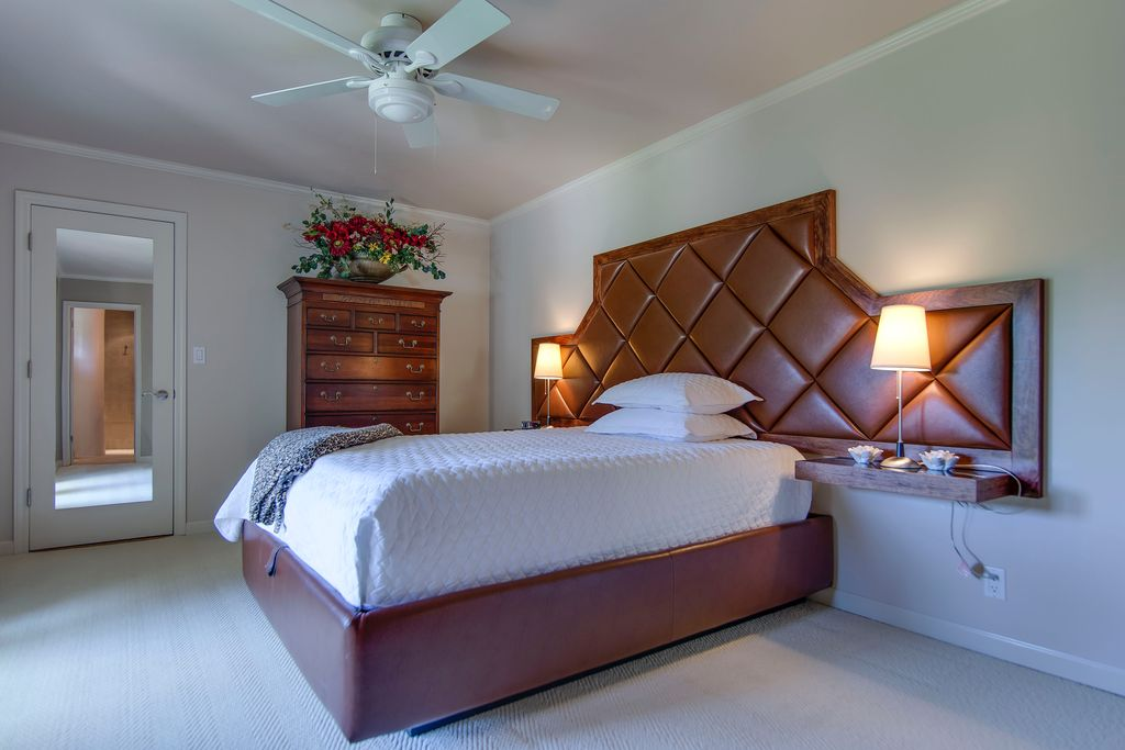 Traditional Master Bedroom with flush light & Ceiling fan in Santa ...
