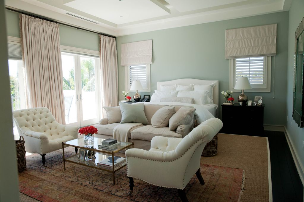 Wonderful Traditional Master Bedroom With Slate Floors, Carpet, Pier 1 Imports Chas  Armchair, High