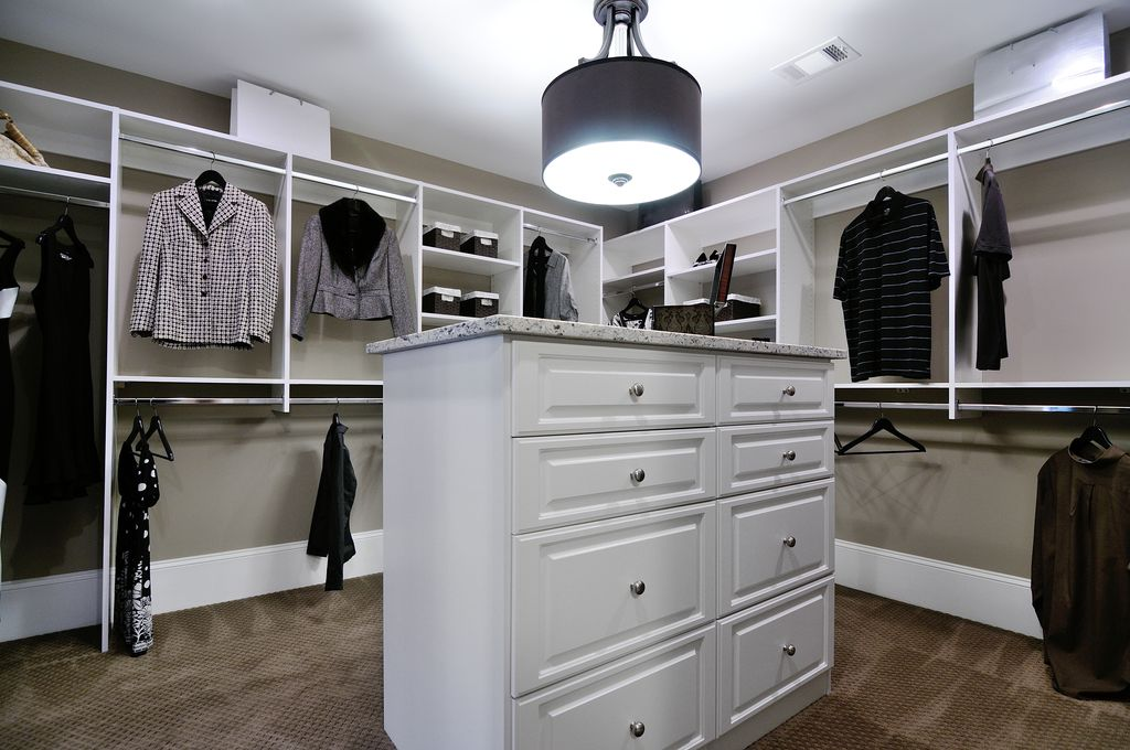 Contemporary Closet With Flush Light, Shaw Floors Cobble Hill Carpet,  EP830 8