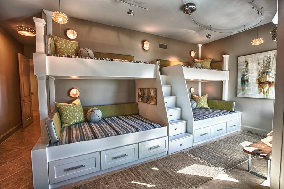 Contemporary room with Cushion Pros Custom Cushions Custom Made Quad Bunk Bed Track lighting & Contemporary Space with Track lighting by Bill Bisset | Zillow ... azcodes.com